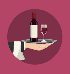 drinks service icon vector image