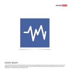 ecg icon - blue photo frame vector image