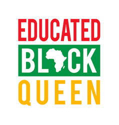 Educated black queen vector