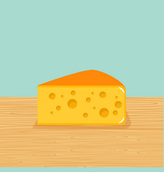 farm cheese on the table vector image