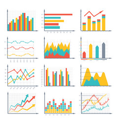 Financial business graphics and diagram set in vector