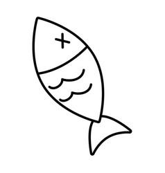 fish wildlife icon vector image
