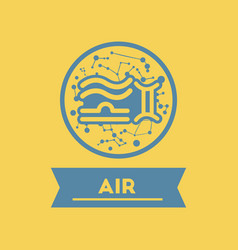 Flat icon air sign zodiac vector