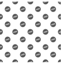 free sign pattern seamless vector image