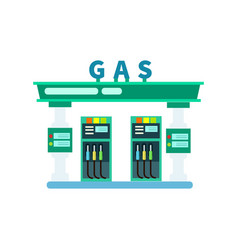 Gas filling station icon vector