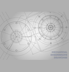 gray mechanical engineering drawings background vector image