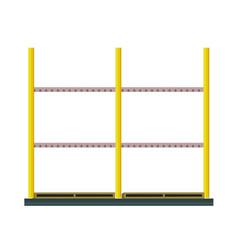 industrial warehouse rack in flat design vector image
