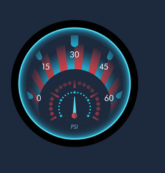 isolated speedometers for dashboard device vector image