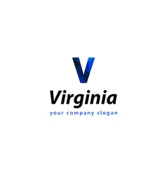 Letter V logo Template for your company vector