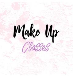 Make up artist business card vector