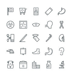 Medical and Health Cool Icons 6 vector