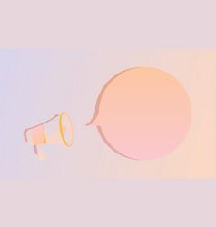 Megaphone announcement and blank bubble talk vector