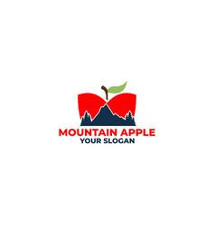 mountain apple logo design vector image
