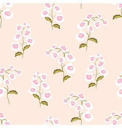 Nemesia flowers seamless pattern vector image