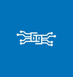 Number six nine tech logo icon design vector