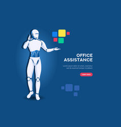 office assistance symbol vector image