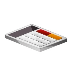 Office color calculator lying down vector