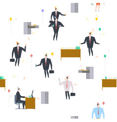 office party pattern holiday at work businessman vector image
