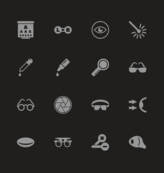Optometry - flat icons vector