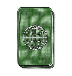 Passport icon image vector