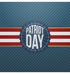 Patriot Day paper festive Emblem vector