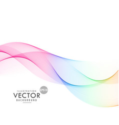 rainbow color wave background vector image