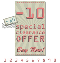 Sale offer old retro vintage background vector image