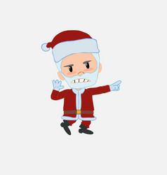 santa claus points angrily to his left vector image