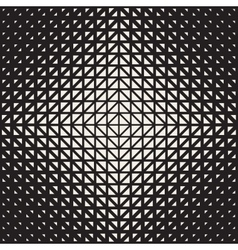 Seamless Black And White Triangle Halftone vector image