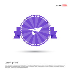 Send icon - purple ribbon banner vector