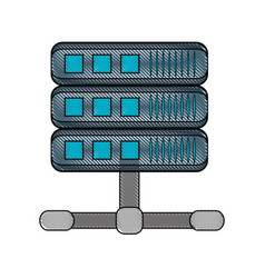 servers storage database vector image