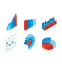 Set of 3d charts vector