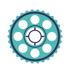 Silhouette blue pinion with rings vector