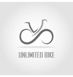 Simple bike logotype vector image