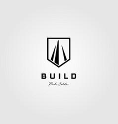 simple fence vintage logo icon design vector image