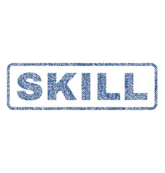 skill textile stamp vector image