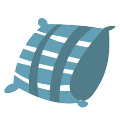 Soft airy pillow cushion for bed or sofa vector