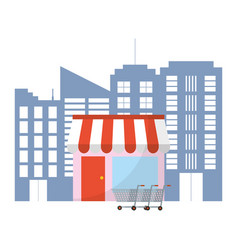 store at city concept vector image