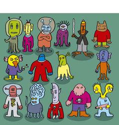 Strange aliens vector