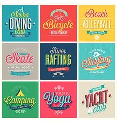 Summer sports vector