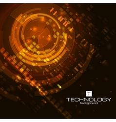Technology background with HUD elements vector image