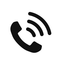 Telephone icon in modern design style for web vector
