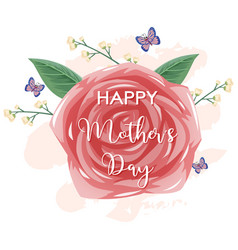 template design for happy mothers day with pink vector image