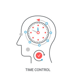 Time control concept vector