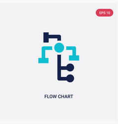 Two color flow chart icon from business and vector
