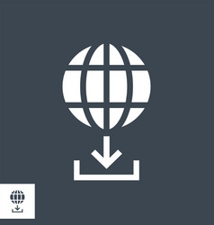 upload manager glyph icon vector image