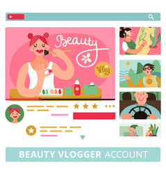 Video bloggers banners set vector