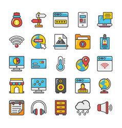 web design and development icons 6 vector image
