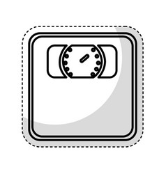 Weight scale isolated icon vector