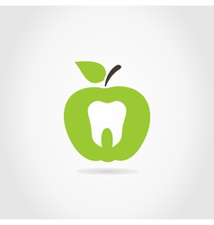 Apple a tooth vector